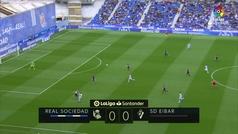 Gol de Juanmi (1-0) en el Real Sociedad 1-1 Eibar