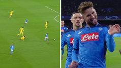 Gol de Mertens (1-0) en el Nápoles 1-1 Barcelona