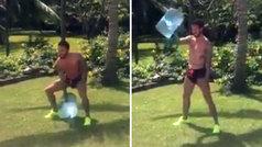 """Ramos no se va de vacaciones y se machaca con una garrafa de agua: """"¡Animalaco!"""""""