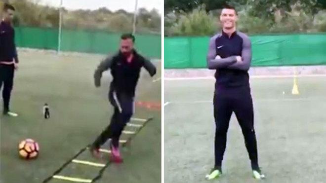 Cristiano alucina con los pies más rápidos del mundo