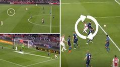 ¡Cómo juega el Ajax!: pase de 50 metros, recorte, reverso de 'pivot' y golazo