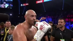 Tyson Fury entona el 'I don't want to miss a thing' de Aerosmith