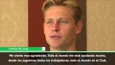 """El mensaje de De Jong tras ser preguntado por Iniesta: """"Ese no es mi objetivo"""""""