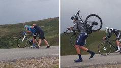 Espectacular ventisca en la Vuelta a Burgos: ¡no podían ni pedalear los ciclistas!