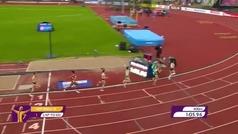 Impresionante final de María Vicente en los 800 m para colgarse el oro europeo de heptatlón