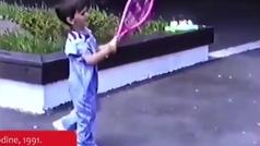 Djokovic ya tenía maneras de campeón a los cuatro años