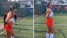 """El reto viral de la freestyler brasileña Natalia Guitler: """"Día de compras"""""""