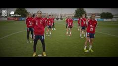 """La selección española femenina de futbol, con el 8-M: """"Hoy es nuestro día"""""""