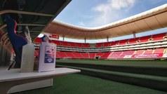 Se aplican los protocolos de sanidad en el Estadio Akron para el inicio de la Copa México