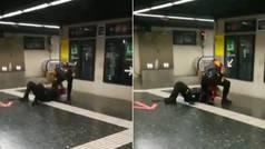 La pelea a puñetazo limpio de dos vigilantes del metro de Barcelona