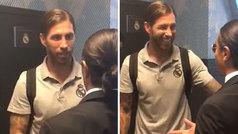 El mediático cocinero 'Salt Bae' se pasó por Balaídos a vacilar a los jugador de Madrid y Celta