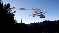 El derrumbe del famoso telescopio de 305 metros del Observatorio de Arecibo