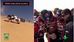 La reacción del resto de pilotos del Dakar viendo el accidente de Fernando Alonso