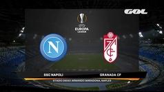 Uefa Europa League (Vuelta de dieciseisavos de final): Resumen y goles del Nápoles 2-1 Granada