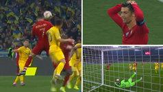 Cristiano tuvo el empate en el 92' con un cabezazo marca de la casa: ¡qué paradón del portero!