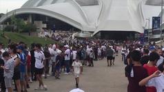 Máxima expectación en Montreal para el entrenamiento a puerta abierta del Madrid