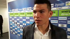 """Hirving Lozano: """"Pensé que Luuk iba a meter el gol"""""""