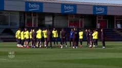 El Barça entrena a la espera del fichaje de Braithwaite