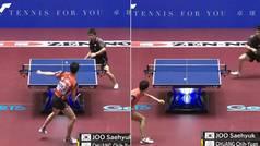 El punto que 'sacude' al mundo del ping-pong: estilo defensivo... y ataque descontrolado