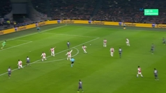 Gol de Lewandowski (0-1) en el Ajax 3-3 Bayern