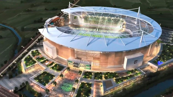 León presenta el proyecto de su nuevo estadio