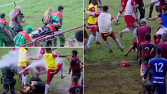 La brutal batalla campal que ha paralizado Brasil: puñetazos, patadas y gases lacrimógenos