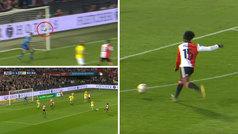 Espectacular voleón de exterior del Feyenoord: ¡de los que no se marcan ni en el FIFA!
