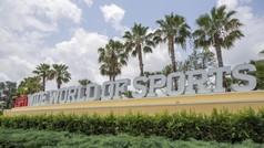 Imágenes del montaje en el ESP Wide World of Sports Complex del Walt Disney World en Orlando