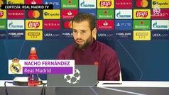 """Nacho: """"Soy feliz en el Real Madrid, no me cambiaría por nadie"""""""