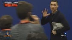 Gesto de Cristiano Ronaldo al marcharse del Wanda tras el partido de Champions