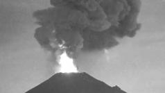 El volcán Popocatépetl vuelve a despertar