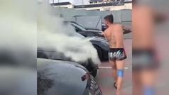 La venganza de Lucas Hernández: ¡roció un extintor en el coche de Diego Costa!
