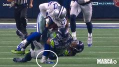 Así fue la escalofriante fractura de tobillo de Allen Hurns, de los Cowboys de Dallas