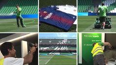 Así se prepara el Villamarín para el Barça vs Valencia: la altura del césped, el palco, los vestuarios...