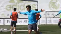 Valverde se entrena de manera específica a dos días del duelo de Liverpool