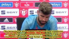"""Piqué: """"Hay que buscar talento para ganar títulos"""""""
