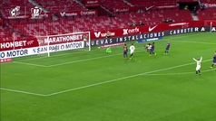 Gol de Kounde (1-0) en el Sevilla 2-0 Barcelona