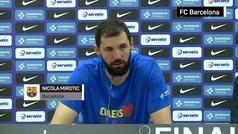 """Mirotic: """"Hemos puesto al Barça donde se merece"""""""