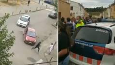 Una persecución en Figueres acaba con varios disparos al aire ante la muchedumbre
