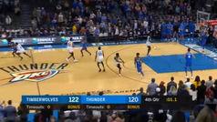 La increíble jugada de los Thunder para empatar en apenas un segundo