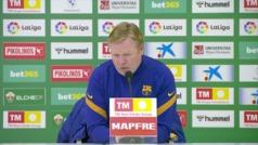 """Koeman: """"Suerte de Ter Stegen, si no nos hubieran marcado por un grave error nuestro"""""""