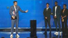 El discurso exprés de Doncic tras el 'Rookie del Año': ¡Apenas duró 20 segundos!