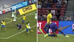 Escalofriante lesión del exdeportivista Uzoho en el amistoso ante Brasil: ¡no apta para sensibles!