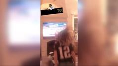 Gisele Bündchen se descontrola con la jugada de Brady que llevó a los Patriots a la Super Bowl
