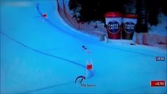 Terrible caída del esquiador Marc Gisin en el descenso de Val Gardena