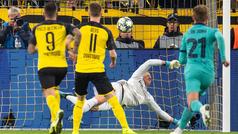 El espectacular vuelo sin motor de Ter Stegen para parar el penalti de Reus