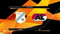 Europa League (J6): Resumen y goles del Rijeka 2-1 AZ Alkmaar