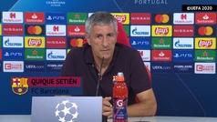"""Setién: """"Lewandowski es un gran jugador, pero no está a la altura de Messi"""""""