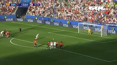 Gol de Rapinoe (p.) (1-2) en el España 1-2 Estados Unidos