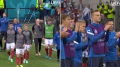 Así fue el duro regreso de los jugadores daneses al campo de juego tras el drama vivido